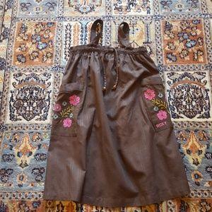 ROXY dark brown embroidered sundress size M 5